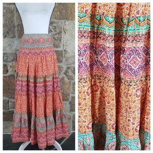 NWT LRL S SMALL Boho Maxi Long Skirt